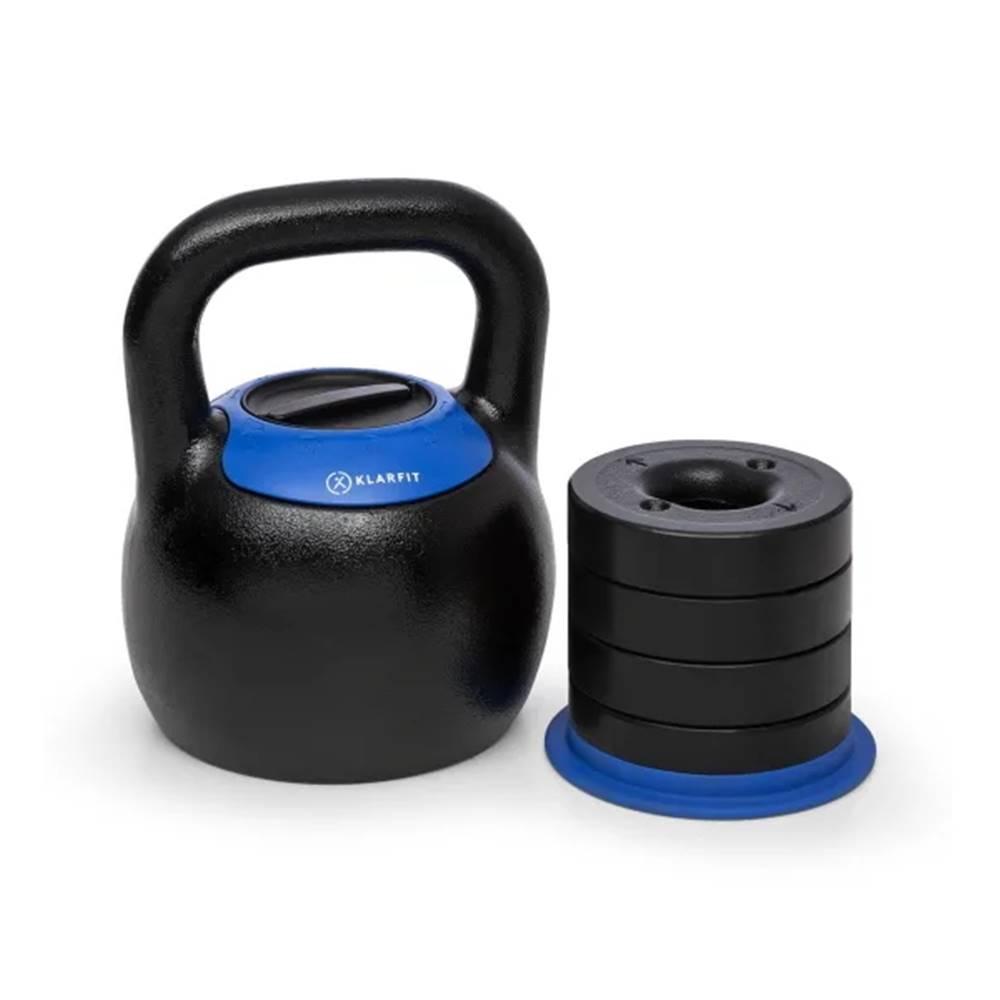 Insportline Nastaviteľný kettlebell KLARFIT Adjustabell 16/18/20/22/24 kg